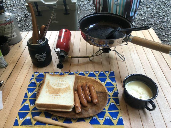 朝食 キャンプ道具