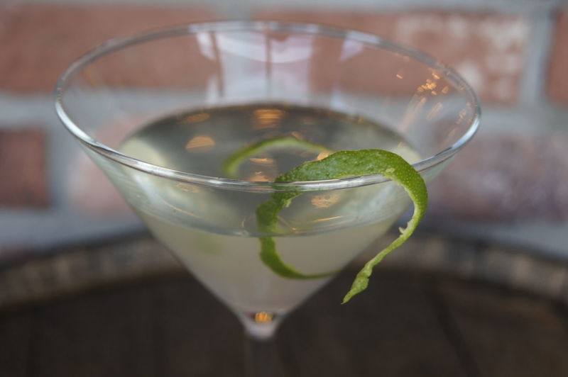 Close-up of cocktail in martini glass