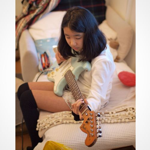 Girl Daughter My Daughter Daphne Blue 1974 Fender Stratocaster