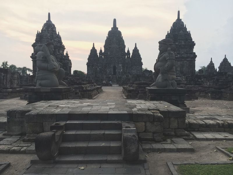 Religion Place Of Worship Travel Destinations Spirituality Sky Architecture Tourism Built Structure Building Exterior Yogyakarta INDONESIA Real People Outdoors Day