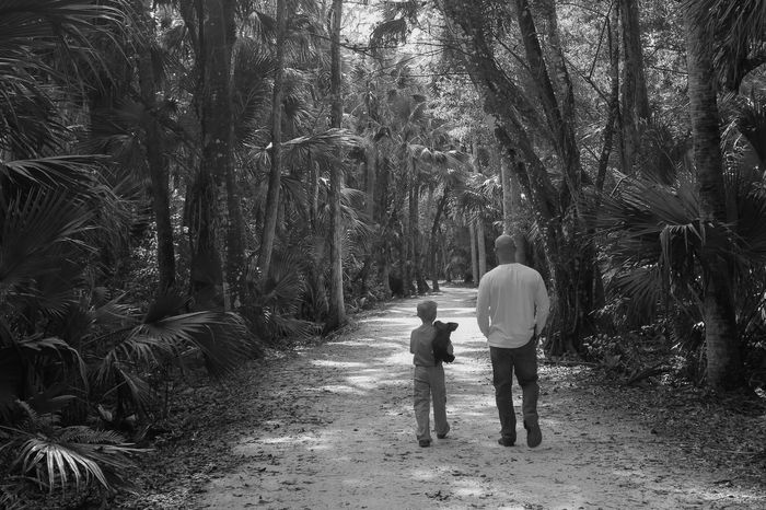 Saturday walk in the park Beauty In Nature Bonding Childhood Father And Son Father And Son Moments Father And Son Time Florida Nature Footpath Leisure Activity Nature Nature Trail Outdoors Real People Riverbend Park Togetherness Two People Walking