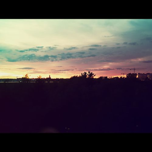 Sunset Stockholm 22.54 July 7,horizon skyline amazing color Taking Photos Hello World Check This Out