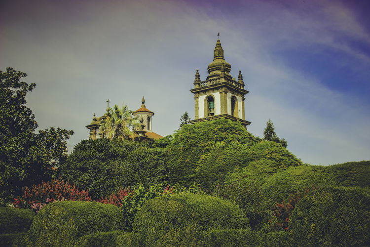 Bell EyeEm Portugal Architecture Building Building Exterior Built Structure Day Garden Multi Colored No People Outdoors Palace Palace Garden Plant Religion Sky Tower Tower Bell Travel Destinations Tree