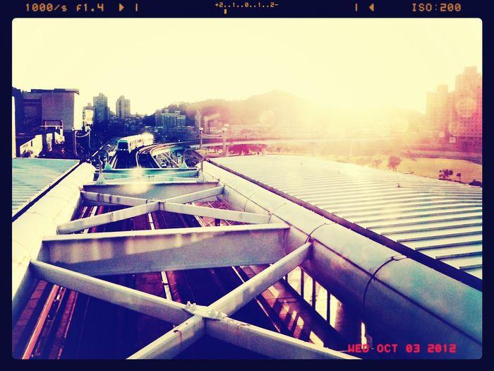 Driving to sunset Sunset Subway Station Taipei