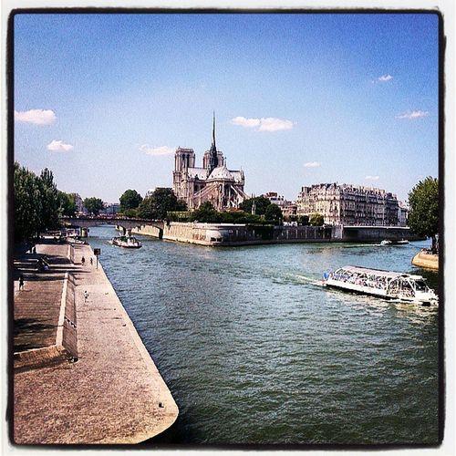 Seine River Paris Igersparis church