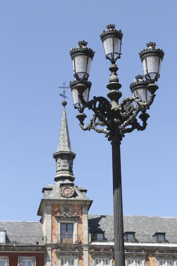 Plaza Mayor Architecture Famous Place Farola Farolas De Luz  History Plazamayor Tourism Tower Travel Destinations