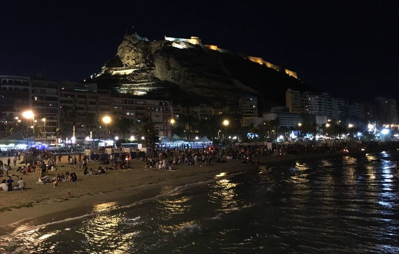 San Juans Night Alicante Beach Summer Solstice Night Vision Eyeem Photography Photo Collection Night Mediterranean Alicante Night The Moment - 2016 Eyeem Awards Enjoying Nature