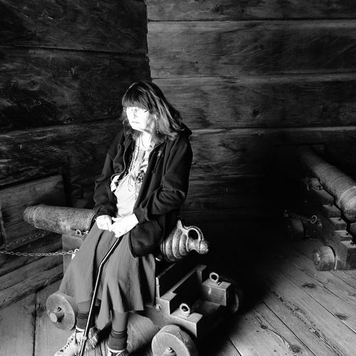 B&W Portrait Mom Fort Ross Cannon The Portraitist - 2015 EyeEm Awards Creative Light And Shadow Shades Of Grey