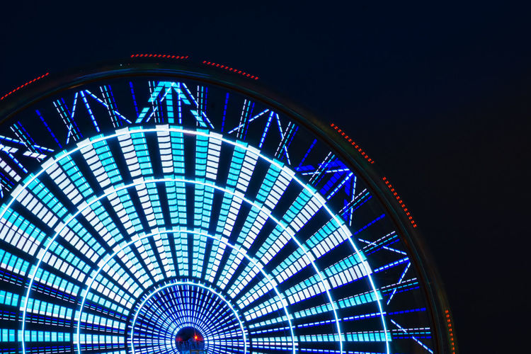 Amusement Park Amusement Park Ride Architecture Arts Culture And Entertainment Building Exterior Built Structure Ceiling City Ferris Wheel Glowing Illuminated Lighting Equipment Low Angle View Multi Colored Nature Night Nightlife No People Outdoors Pattern Travel Travel Destinations EyeEmNewHere