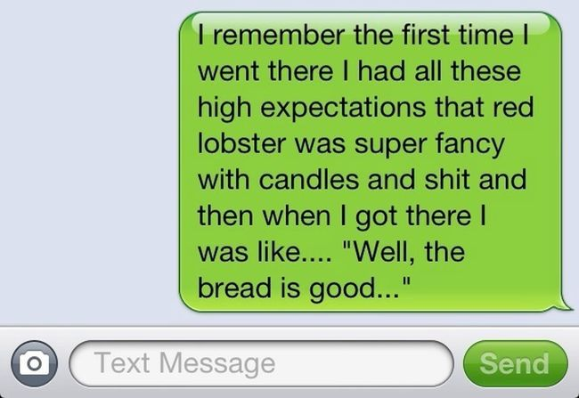 Discussing Red Lobster with the boo