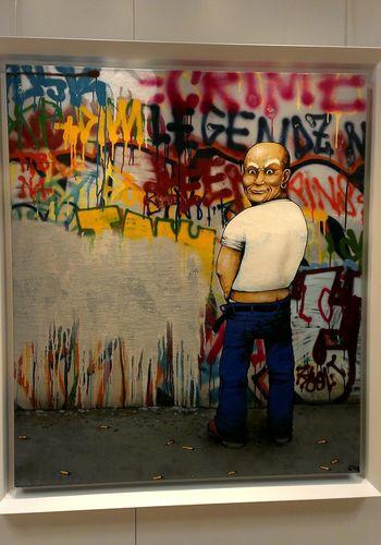 Mon préféré de l'expo... m'a bien fait rire ! Collection Nicolas Laugero Lasserre Streetart Dran Mr Propre