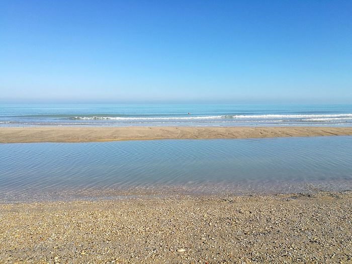 Sea Beach No People Nature Water Sky Outdoors Tranquility Winter Sea Day Clear Sky