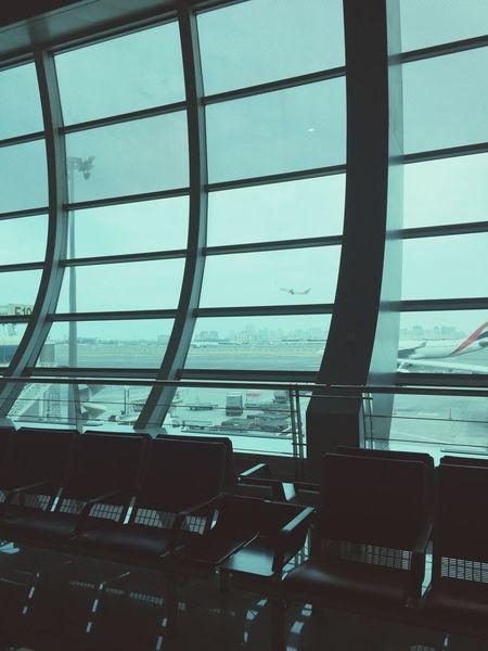 Window Airport Sky City Day Dubai❤ Dubai Saudi Arabia No People TakeOff