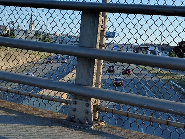 Hit The Fence Traffic Afternoon Walk Walking The Streets Cars On The Move Check This Out City Life Living In The City