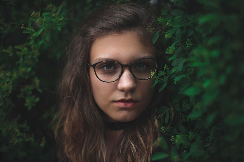 Mother Nature Beauty Eyeglasses  Individuality Young Adult Beautiful People Beautiful Woman Character Portrait One Woman Only Young Women Outdoors Day Adult People Nature Nature Photography Close-up Moody Glasses Hair Hairstyle Mood