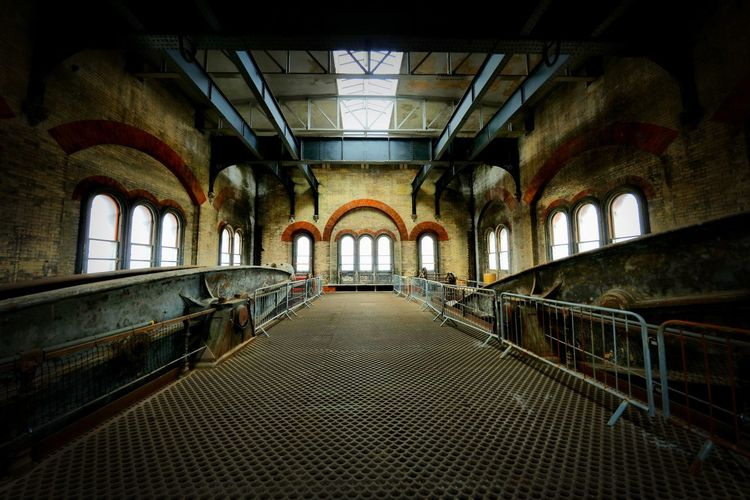 Crossness Pumping Station Indoors  Architecture Arch The Way Forward Direction Ceiling No People
