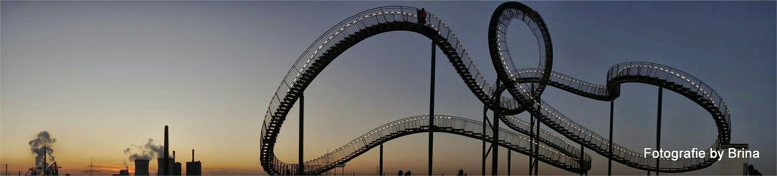 Panorama Ruhrgebiet Bluehour Roller Coaster Angerbach | Duisburg Tiger & Turtle Landmark Industry My Country In A Photo Amazing Architecture Landscapes With WhiteWall
