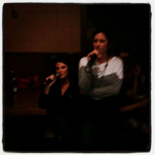My girls singing their pretty lil hearts out! <3 them!!