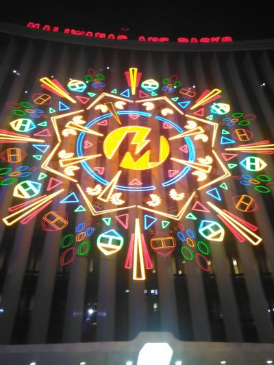 Maliwanag ang Pasko 🌌🌟🎆Multi Colored Illuminated Night Neon No People Outdoors Christmas Decoration Christmas Lights Christmas Lantern HUAWEI Photo Award: After Dark