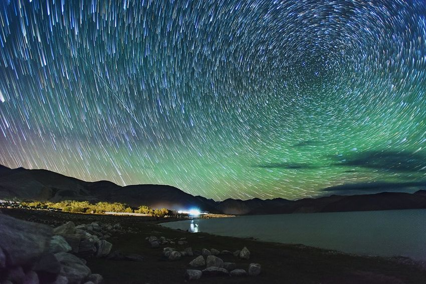 Startrails Milky Way Milkyway Pangonglake NikonD800 PangongTso Pangong Lake Leh Ladakh India