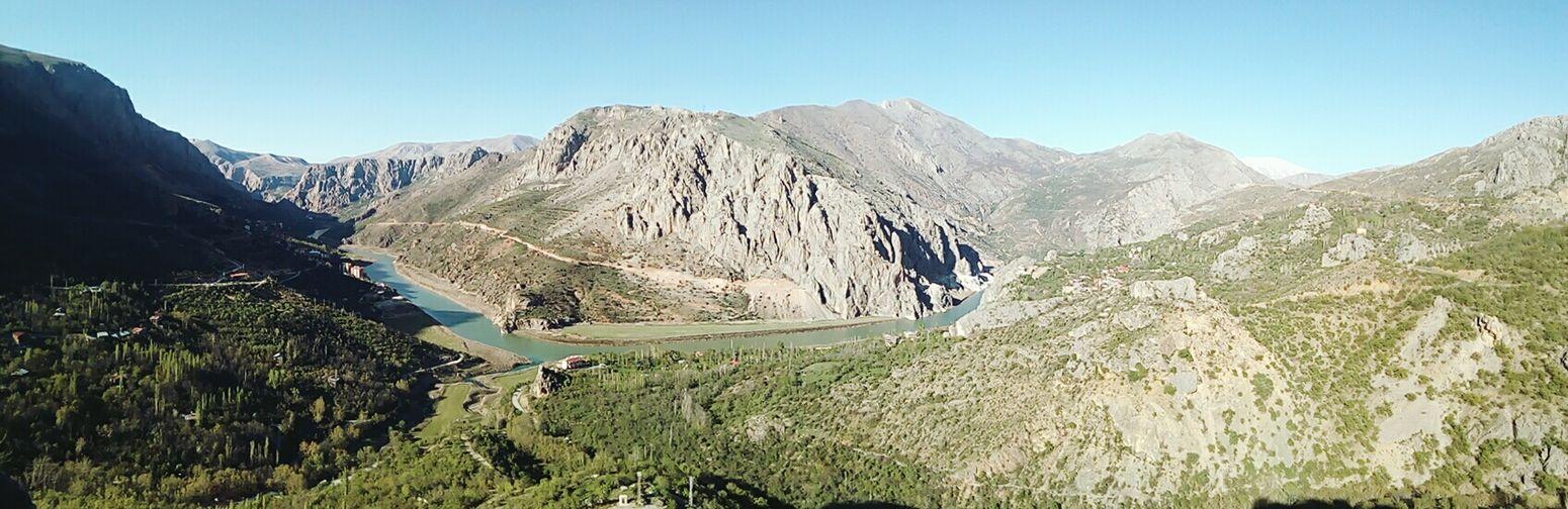 Panoramic Kemaliye Eğin Darkness Canyon Nature River Mountain Adventure Mountain Peak Sky Grass Mountain Range Landscape