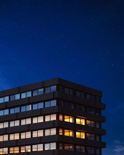 Night Star - Space Astronomy Space Architecture Sky Building Exterior Built Structure Star Illuminated Building No People Space And Astronomy City Nature Blue Star Field EyeEmNewHere