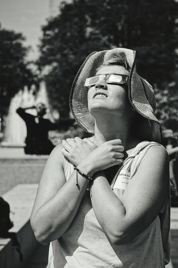 awestruck One Woman Only One Person Portrait Close-up Outdoors Peaceful Spaces The Week On EyeEm EyeEm EyeEm Selects EyeEmNewHere Galaxy Detroit, MI Peaceful Moment Conservatory Space And Astronomy Breathing Space One Young Woman Only Space Eclipse Eclipse 2017 Eclipse Glasses Eclipse Of The Sun Eclipse Portrait Black And White Photography Black And White Portrait