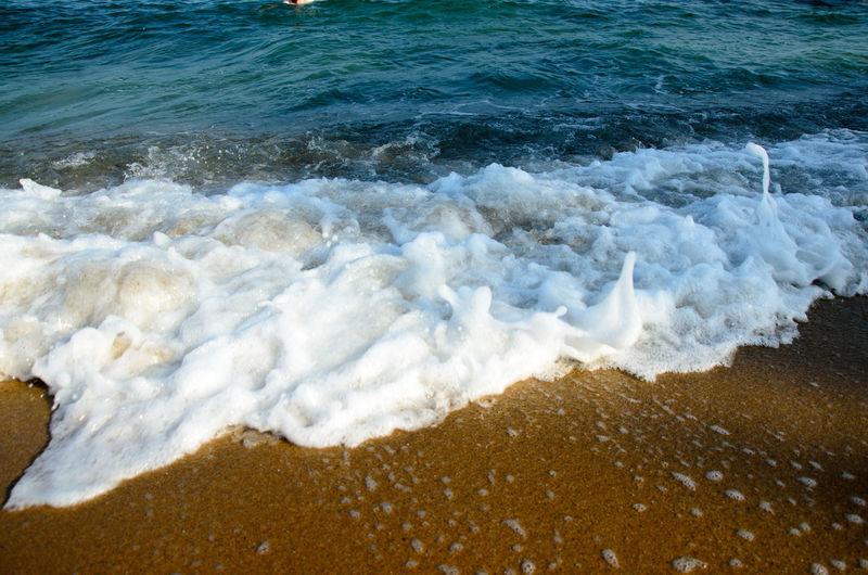 Black Sea Constanta Romania Sea Searching Splashing Summer Vacation Water Wave