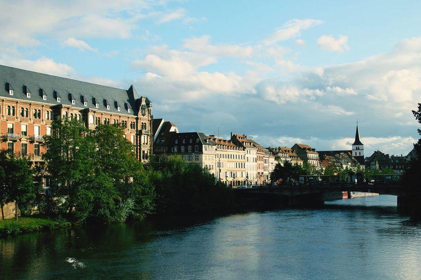 Architecture Sky Water Building Exterior Cloud - Sky Alsace Strasbourg Strasbourg♥ France Visiting Landscape Landscape_Collection