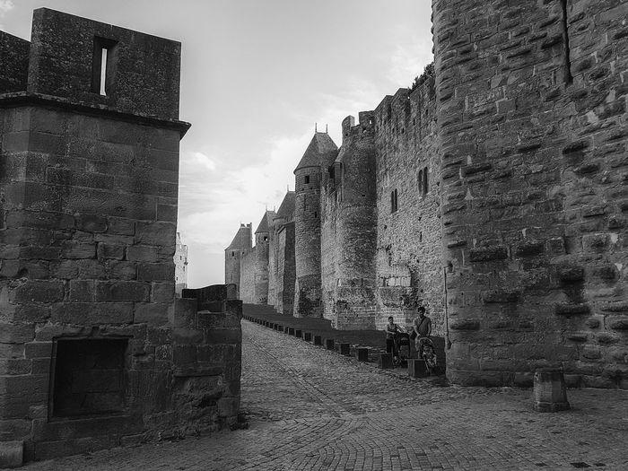 Carcassonne Carcassonne City MedievalTown Past Architecture Black And White Building Exterior Built Structure History History Place Medieval Architecture Monochrome Outdoors Travel Destinations