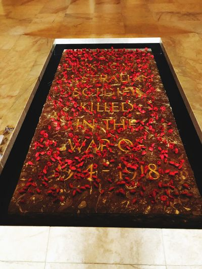 Australia Memorial Plaque Petals High Angle View Red No People Nature Plant Freshness Close-up Flower Abundance