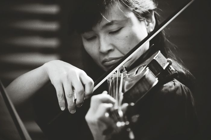 Performance Music Violinist Portrait B&w Nikon D700