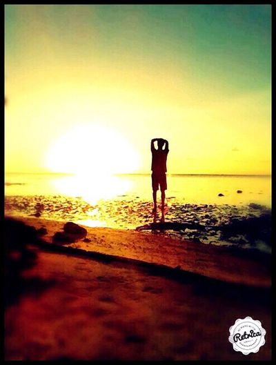 Another sunset,another island of P.F Tuamotu My Life Paradise In Heaven Sunset Silhouettes Jahbless Sunny Day