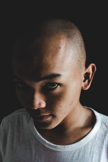 Close-up portrait of a boy