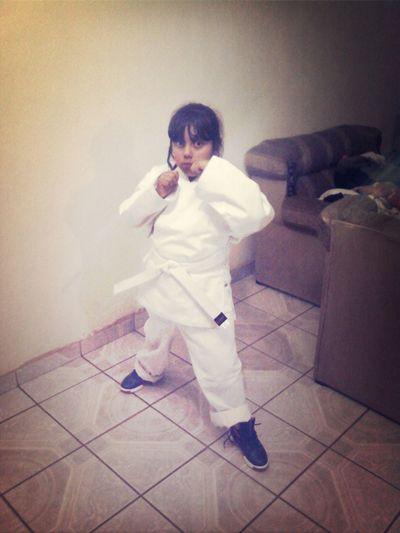 mi dany ya preparada para el karate