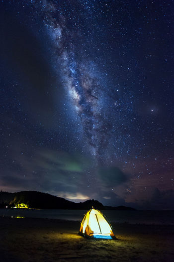 Milky way galaxy Nikon D700 | Nikkor 14-24mm Adventure Astronomy Beauty In Nature Camping Constellation Galaxy Illuminated Milky Way Nature Night One Person Outdoors People Scenics Sky Space Space Exploration Star - Space Starry Tent Tranquil Scene Tranquility