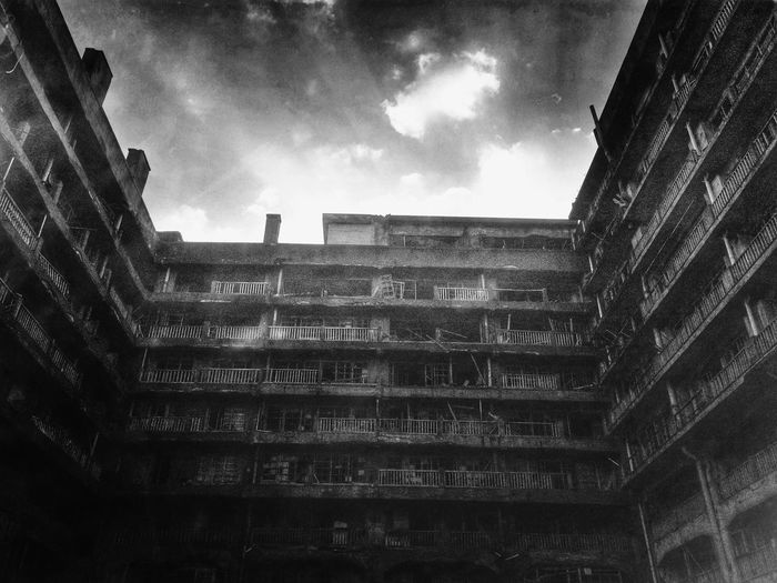 Ruins Urbex Light And Shadow Clouds And Sky Traveling Hello World Funiku IPhoneography Japan Black And White