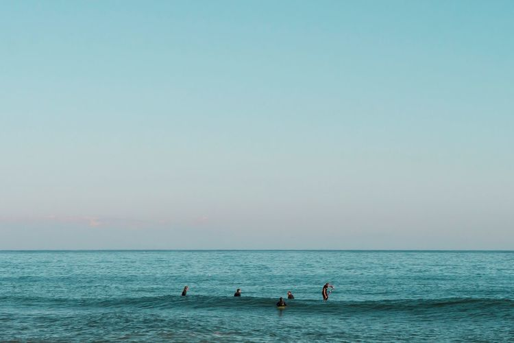 Waiting for the perfect little wave Beach Beauty In Nature Clear Sky Copy Space Day Horizon Over Water Leisure Activity Lifestyles Minimal Minimalism Nature Outdoors Paddleboarding Real People Scenics Sea Sky Surf Surface Level Tranquil Scene Tranquility Vacations Water Waterfront Sommergefühle