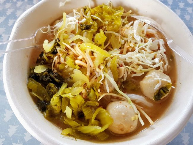 kanom jin Food Street Food Thai Cuisine Thai Thai Food EyeEm Selects Food And Drink High Angle View Food Bowl No People Directly Above Healthy Eating