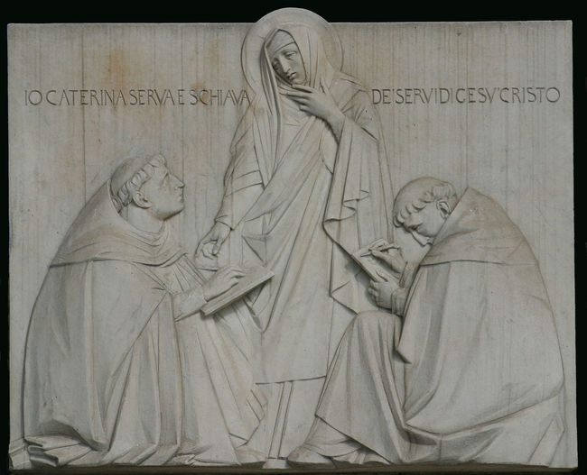 Saint Catherine of Siena, relief in Rome Art Catherine Catherine Of Siena Christianity Creativity Faith Historic Religion Rome Saint Siena