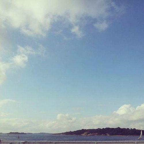 Sky Clouds Brownseaisland Dorset Poole Sandbanks