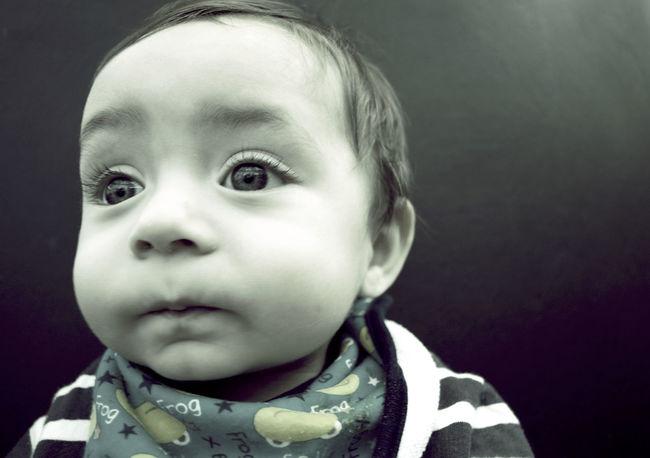 Big Eyes Cheeks Childhood Close-up Curiosity Cute Eyelashes Headshot Human Face Innocence Looking Away New Life Person Teething Toddler