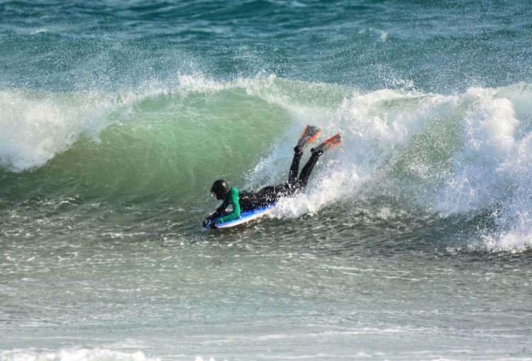 Bodyboard France Côte D'Azur Mediterranean  Wave Extreme Sports Men Togetherness Waterfront Aquatic Sport