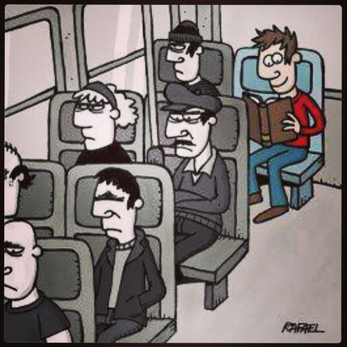 How to enjoy commuting. Reading Acolourfulworld Publictransport