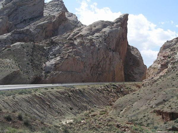 Road Utah Geology No People Overhang Ridge