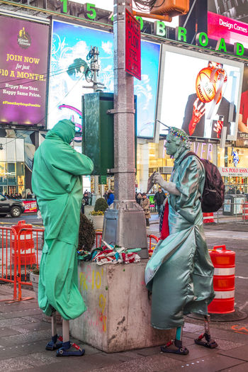 Built Structure Casual Clothing City Costume Liberty Statue Liberty Statue Guy Lifestyles New York New York City Night Time Square, New York Times Square NYC TimesSquare Urban The Photojournalist - 2018 EyeEm Awards