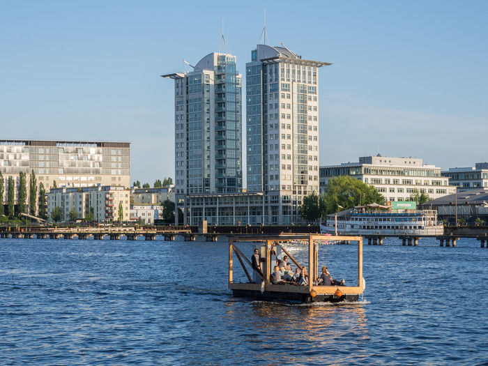 View Of Buildings At Waterfront At River Spree In Friedrichshain, Berlin