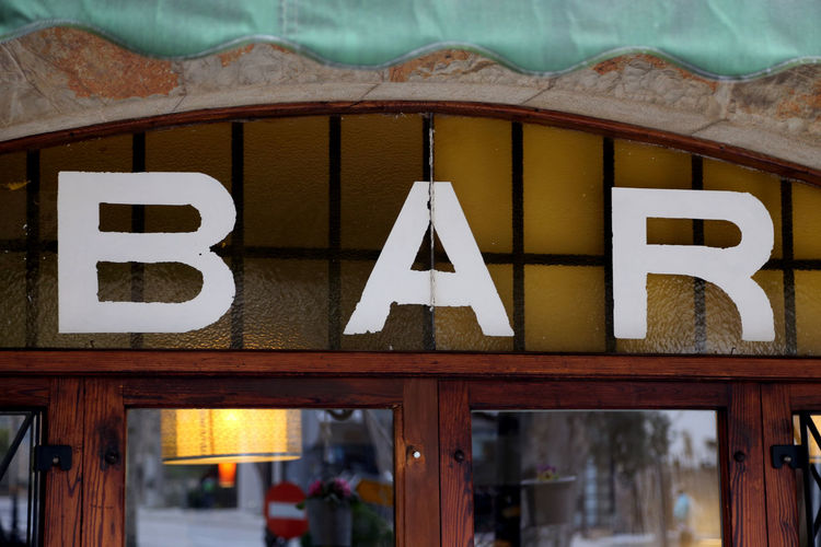Old-fashioned Bar Sign Bar Bar Sign Bar Signs Close-up Communication Day No People Outdoors Text Wood - Material