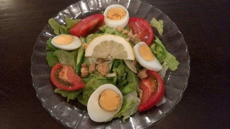 ガトガドサラダは10年振り位に食べた Curry Salad Nuts Lettuce Tomato