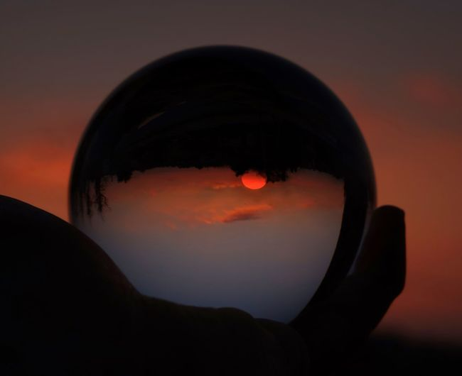 Sunball EyeEm Nature Lover EyeEm Best Shots Sunset Sky Beauty In Nature Nature Scenics Outdoors Silhouette No People Tranquility Tranquil Scene Clear Sky Landscape Water Close-up Astronomy Day